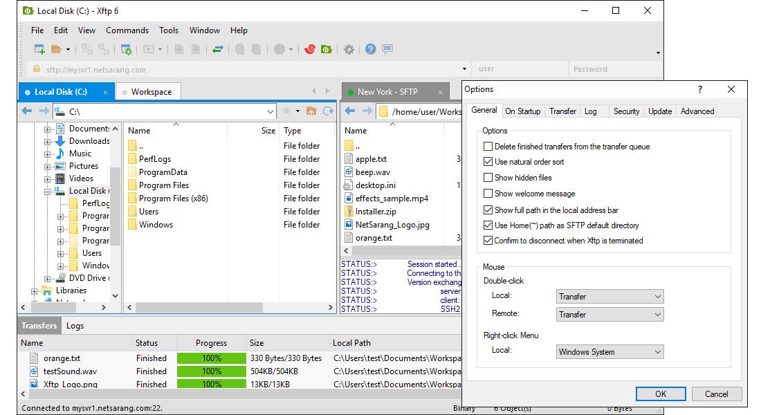 Xftp full screenshot